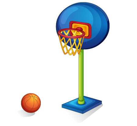 Clipart basketbol topu ve potası